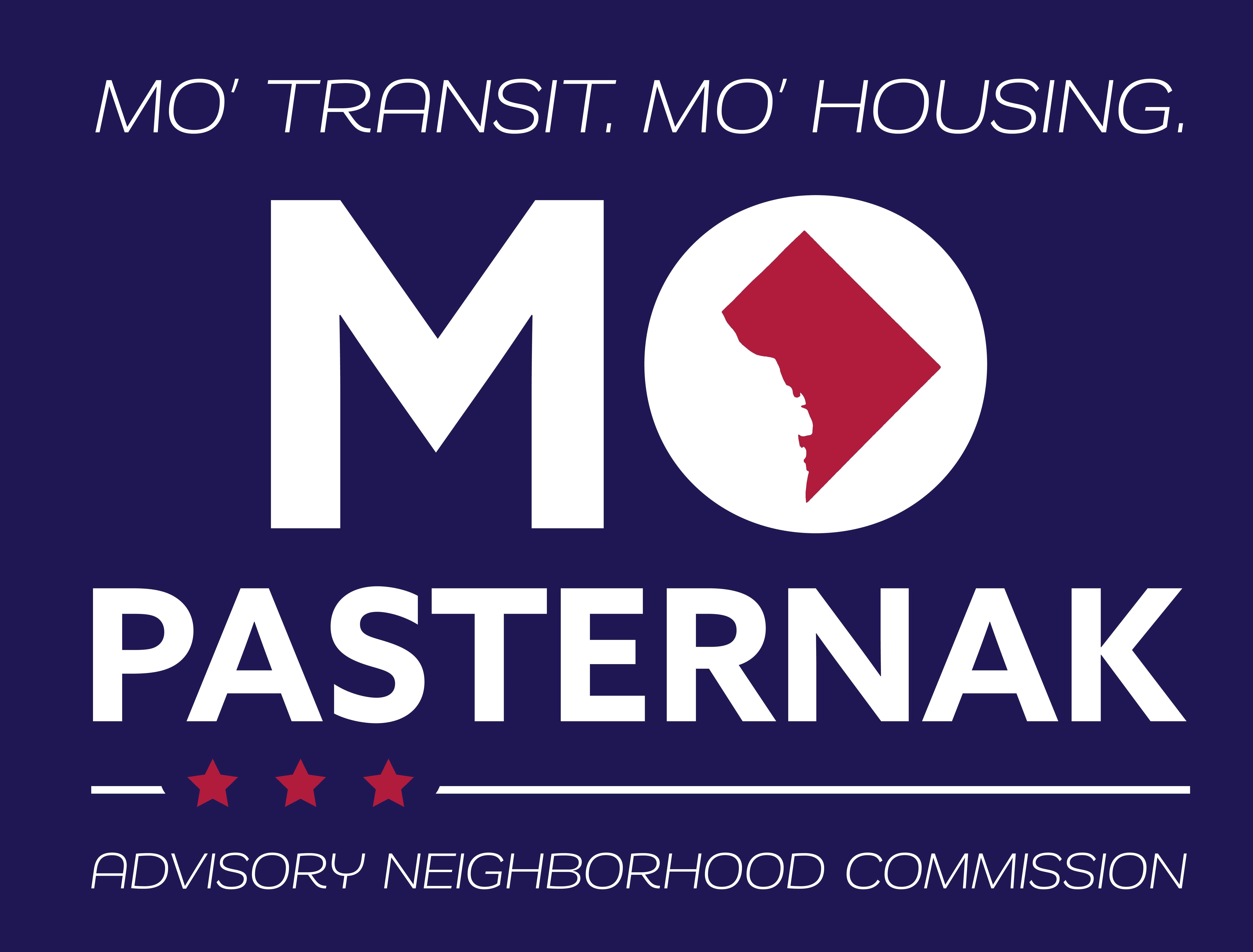 Mo Transit. Mo Housing. Mo Pasternak (logo)